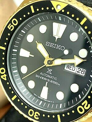 $ CDN362.75 • Buy Seiko Men's Watch SRPC44 Prospex Automatic Diver Gold Tone Black Silicone Strap