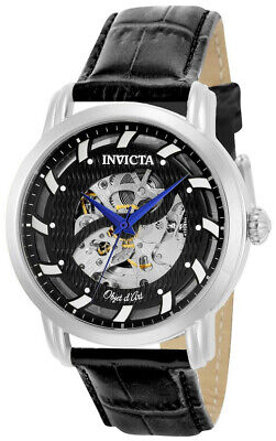 $ CDN1.20 • Buy Invicta Objet D' Art 22633 Men's Carbon Round Skeleton Automatic Black Watch