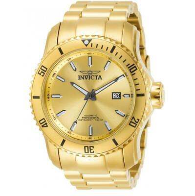 $ CDN1.20 • Buy Invicta Pro Diver 30549 Men's Round Gold-Tone Gold Dial Automatic Date Watch