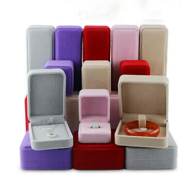 AU10.39 • Buy Jewelry Storage Box Bracelet Ring Necklace Earrings Display Case Velvet Gift Box