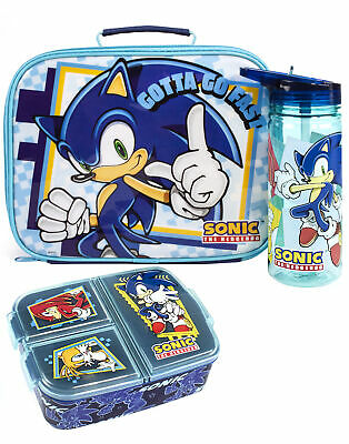£23.99 • Buy Sonic The Hedgehog Lunch Box Set Kids (Bag, Water Bottle, Snack Pot) One Size