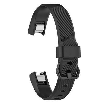 AU4.24 • Buy Silicone Adjustable Watch Band Wrist Strap For Fitbit Alta HR S (Black)