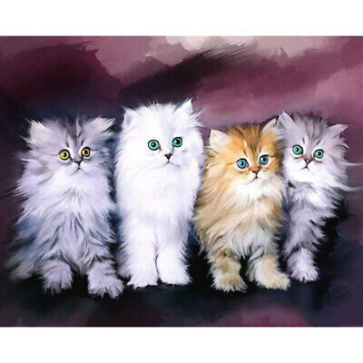 AU8.98 • Buy 5D DIY Diamond Painting Kit Cat Family Full Round Drill Picture Handicrafts