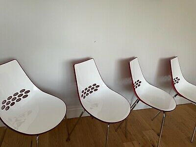£125 • Buy Stylish Italian Calligaris Jam Chairs (x4) - For Sale