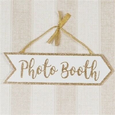 £4.80 • Buy Wedding Arrow Hanging Photo Booth Sign- Photo Booth Party Sign-vintage Style