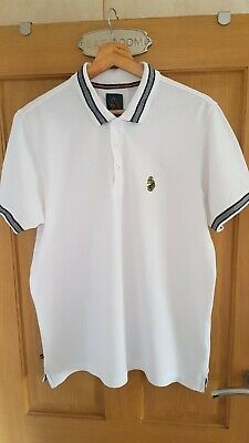£2.10 • Buy Mens White Luke 1977 Large Polo Shirt In Great Used Condition