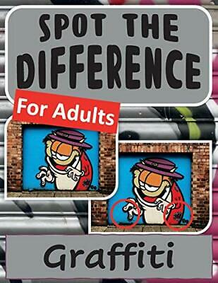£8.49 • Buy Spot The Difference Book For Adults - Graffiti By Harris, Drew Book The Cheap