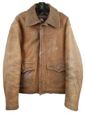 £218.12 • Buy $695 US Wings Brown Cowhide Leather Indy JacketHarrison Ford Signature Series