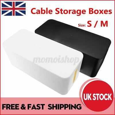 £11.99 • Buy Cable Storage Box Container Socket Wire Management Safety Tidy Organizer Case