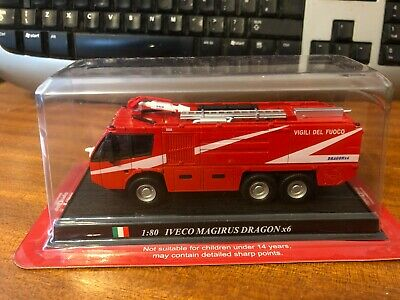 £12.99 • Buy Del Prado Fire Engines 1/80 Scale Iveco Magirus Dragon X6 - Blister Pack