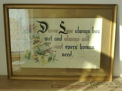 £10.99 • Buy Vintage 1940s Art Print Of Mary Baker Eddy Quote