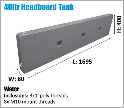 AU240 • Buy 40lt Slim Headboard Water Tank 4wd Ute Tray 4x4 Please Ask For Freight..