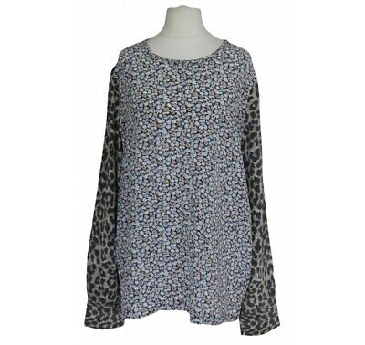 $ CDN102.24 • Buy EQUIPMENT Liam Silk Blouse In Floral And Leopard Print M