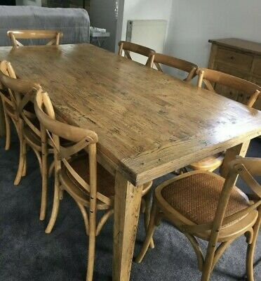 AU1600 • Buy Timber Dining Table With 8 Chairs And Sideboard