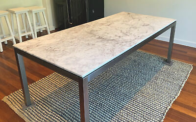 AU849 • Buy 8 Seater DINING TABLE MARBLE TOP STAINLESS STEEL LEGS