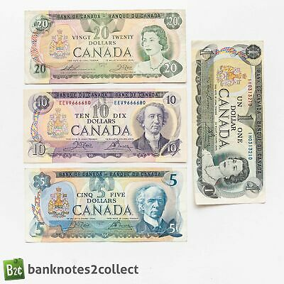 £18 • Buy CANADA: Set Of 4 Canadian Dollar Banknote.