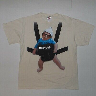 £9.08 • Buy 2009 The Hangover Baby Carlos Movie Promo Beige T-Shirt Sz L