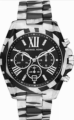 $ CDN145.57 • Buy NEW MICHAEL KORS BRADSHAW Black & White Zebra Chronograph 43mm Watch MK6888 $295