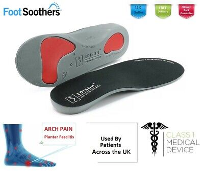 £4.99 • Buy Orthotic Shoe Insoles Arch Support Plantar Fasciitis Flat Feet Back Heel Pain