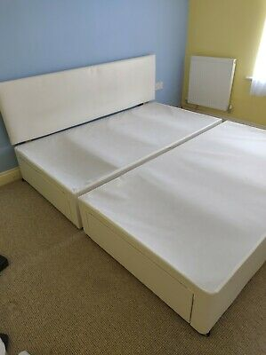 £20 • Buy Divan Bed Super King Size With Sprung Mattress & Headboard Plus 4 Draws