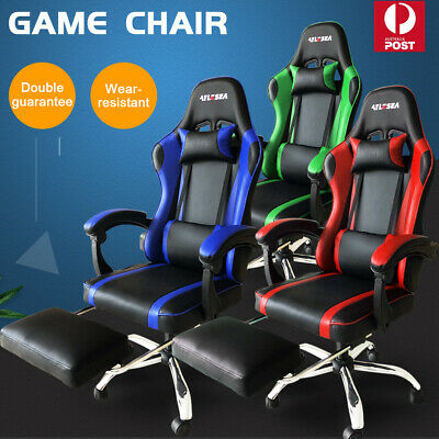 AU99.99 • Buy Gaming Chair Office Chair Computer Executive Chairs Seating Footrest Racer