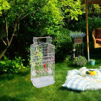 £34.95 • Buy 37  Bird Cage Pet Supplies Metal Cage Open Play Top+2 Toys White
