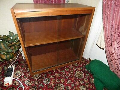 £10 • Buy Wooden Bookcase With Sliding Glass Front