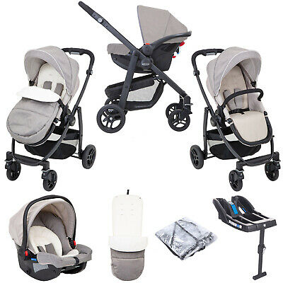 £269.95 • Buy Graco Evo SnugRide Car Seat Travel System & Belted Safety Base Toasted Almond