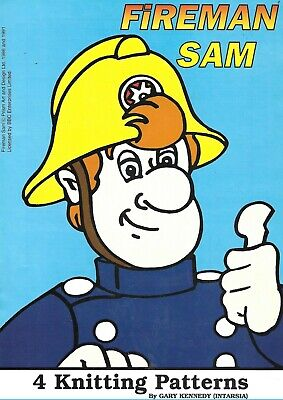 £2.99 • Buy Fireman Sam Jumpers Sweaters Kniting Pattern Booklet By Gary Kennedy