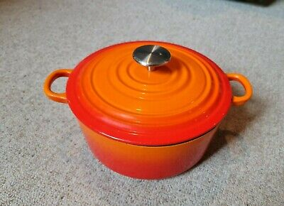 £5 • Buy 22cm Cast Iron Casserole Dish - Volcanic Orange - Sainsburys - Le Creuset Style