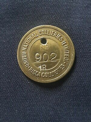 £110 • Buy Risca Colliery Pit Check Welsh Mining Miners Lamp Tally Token