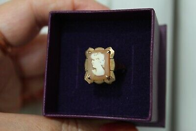 £4.20 • Buy VINTAGE 1960's 9CT YELLOW GOLD CAMEO RING. SIZE O.