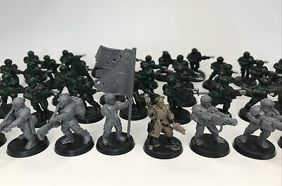 £16 • Buy Warhammer 40k Imperial Guard Infantry Cadian  Astra Miltarium Troops X 48 Lot