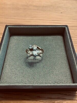 £147 • Buy 9ct Gold 2 Stone .40 Carat Diamond Ring Size M And A Half, Claw Setting