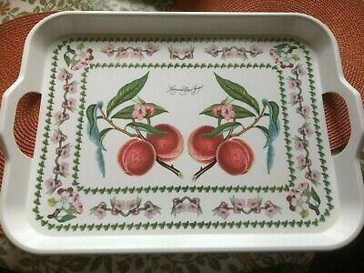 £7 • Buy Portmeirion Pomona Blossom Peach Large Tray With Handles