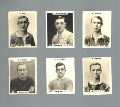 £2 • Buy NORWICH CITY  PINNACE PLAYER CARDS 1920's Original Cards