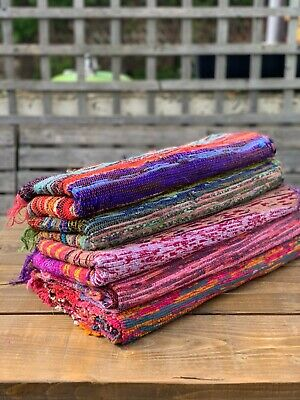 £30 • Buy Bundle Of 5 Large Recycled Rag Rugs Approx. 180 X105 Free Shipping From Uk