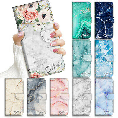 AU13.99 • Buy Personalised Name Flip Wallet Case Cover For IPhone 12 11 8 7 SE Plus Xs Pro Max