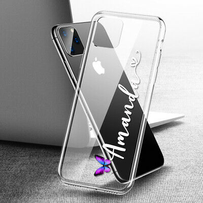 AU6.99 • Buy Personalised Name Clear Case Cover For IPhone 13 12 11 8 7 SE Xs Pro Max XR Plus