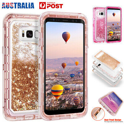 AU9.95 • Buy For Samsung Galaxy S10+ S8+ Hard Liquid Glitter Shockproof Protective Case Cover