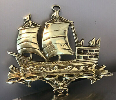 £14.99 • Buy Brass Pipe Rack Holder For 6 Pipes Sailing Ship GALLEON 1230 7.5  6.5  High