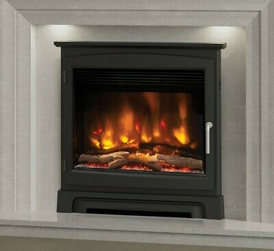 £839 • Buy Electric Inset Fire Modern Led Remote Elgin & Hall Pryzm 22  Cast Stove Front