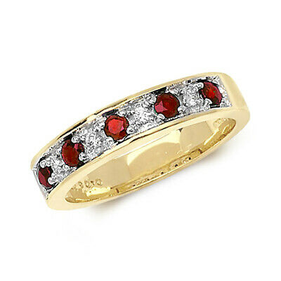 £329 • Buy 9ct Yellow Gold Ruby And Diamond Eternity Ring, Size  Q (277r)
