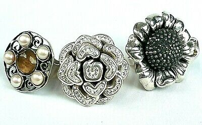 $ CDN36.29 • Buy Sterling Silver Statement Rings Lot Of 3 - All Proceeds Go To CHARITY