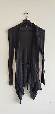 $ CDN36.29 • Buy Anthropologie Knitted & Knotted Gray Cotton Silk Cardigan Sweater XS