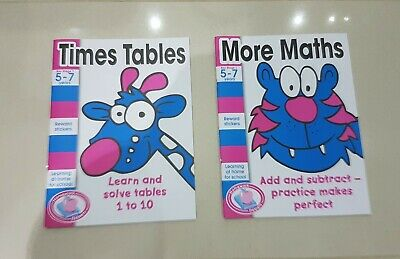 £2.99 • Buy 2 X Childrens Maths Activity Books With Encouragement Stickers Age 5-7 Like New