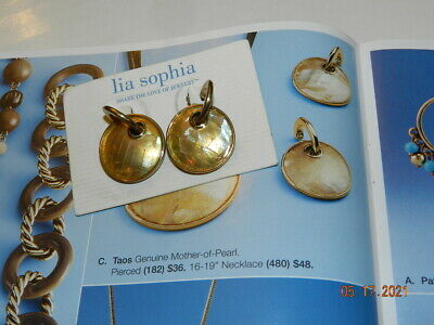 $ CDN12.09 • Buy Lia Sophia  Taos  Gold Earrings Mother Of Pearl