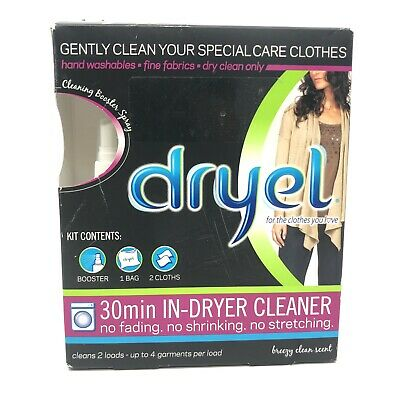 £18.14 • Buy Dryel At-Home Dry Cleaning Starter Kit 30 Min In-Dryer Cleaner Original NEW