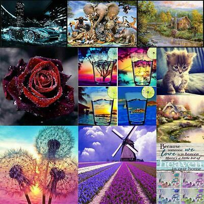 AU11.99 • Buy 5D DIY Diamond Painting Drill Embroidery Kits Art Cross Stitch Decor Gifts Mural