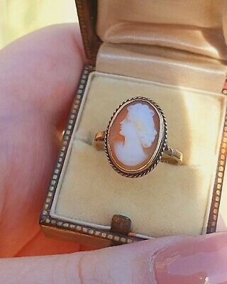 £95 • Buy 9ct Yellow Gold Cameo Ring -  Size Uk N
